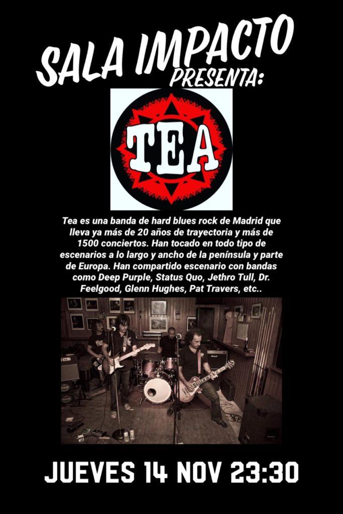 Cartel Tea en Plasencia