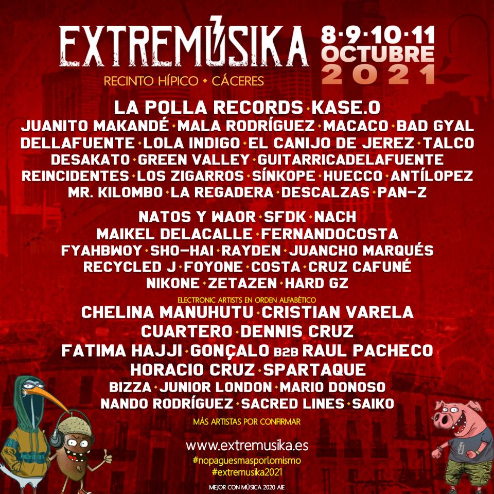 Aplazado el Festival Extremúsika 2021